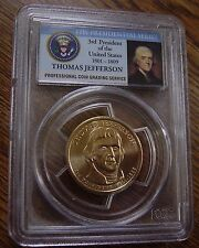 2007 D THOMAS JEFFERSON DOLLAR FIRST DAY OF ISSUE POSITION B LETTERING PCGS 66 b