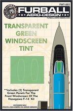 Furball Aero-Design 1/48 F-14 Green Windscreen Tint Film for Hasegawa # FWT002