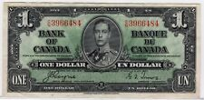 1937 Bank of Canada One Dollar Note