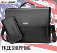 New Mens Leather Business Briefcase Bag Handbag Laptop Shoulder Bag