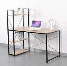 Computer Desk Pc Laptop Table Study Workstation Wood Home Office 4 Tiers Table