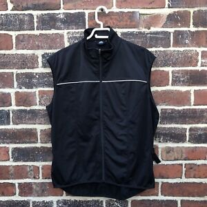 Men's Crane Sports Active Black Windproof Outdoor Cycling Vest Size Xl 56