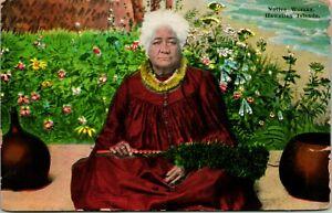 Vtg Postcard 1910s - Native Woman Hawaiian Islands - UNP Island Curio Co. Pub