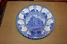Antique Flow Blue Plate New St. Peters Reformed Church Rittersville PA 1914