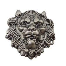 Silver Lion Belt Buckle