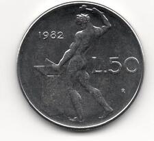 Moneta 50 lire Vulcano 1982 FDC REPUBBLICA ITALIA Italy CX49
