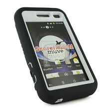 METRO PCS / CRICKET ZTE SCORE X500 / X500M HARD SOFT CASE BLACK/WHITE KICK STAND
