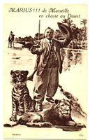 CPA 13 Bouches-du-Rhône Fantaisie Marius de Marseille en chasse  postcard