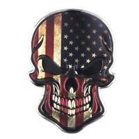 Totenkopf USA Amerika 3D Aufkleber Skull Sticker Auto Motorrad Schädel Chrom US