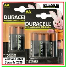 8 DURACELL Ricaricabili AA 2500mAh ULTRA STILO Batterie Pile DX1500 New 2020