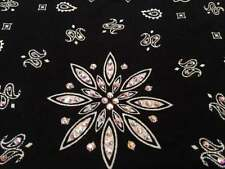 Biker Bling Bandana Do Rag Swarovski AB Crystals in BLACK