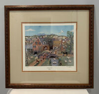 Framed Will Moses Look Out For Mr. Stork Offset Lithograph 380/1000 PS&N Signed
