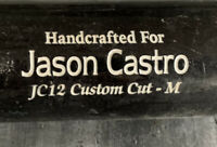 TWINS JASON CASTRO MARUCCI BAT COMPANY GAME USED PERSONAL BAT CRACKED 4