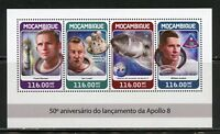 MOZAMBIQUE 2018 50th  ANNIVERSARY OF THE LAUNCH OF APOLLO 8  SHEET MINT NH