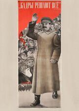 Russian Propaganda Constructivism CADRES DECIDE EVERYTHING Gustav Klutsis Poster