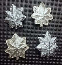 COLLECTIBLE SET (4) U.S. MILITARY SILVER MAPLE LEAF WW2 PINS