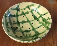 Very Old Pottery Colander / Bowl ~ Unusual Pattern