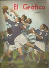 El Grafico Magazine French Rugby Team On Cover 1954