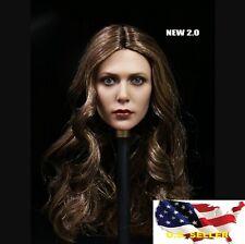 1/6 Scarlet Witch Elizabeth Olsen Head Sculpt 2.0 fit hot toys Phicen kumik❶USA❶