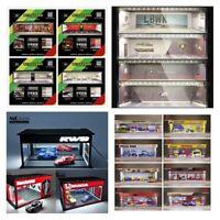 GEECHAN-MODEL 1:64 Display Cabinet Bright Model Carport Fast Furious/Nissan/JDM