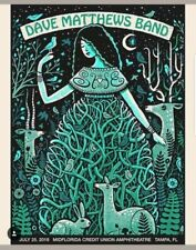 Dave Matthews Band Poster Summer 2018 Tampa Florida MINT #ED/750 Sold Out!!!!