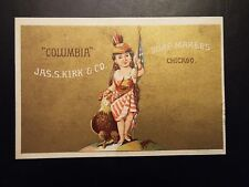 Vintage Columbia Soap Makers trade card