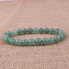 "Beads Stretch Bracelet Gemstone 7.8"" Fashion 8mm Natural Jade Green Aventurine"