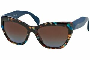 Prada-0PR 02QS Poeme-NAG0A4 Havana Spotted Blue Blue Brown Gradient