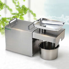 220V Commercial & Home Automatic Oil Press Machine Stainless Steel Oil Expeller