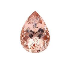 1.50ct 10x7mm Natural Pear Shape Morganite Loose Gemstones