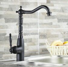 Black Oil Rubbed Brass Single Handle Kitchen Sink Faucet Mixer Basin Tap ynf060
