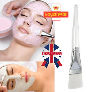 1X white Handle Mixing Brush Facial Face Skin Care Mud DIY Masks pink Applicator