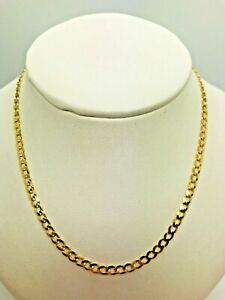 """9ct Yellow Solid Gold Curb Chain – 3.4mm - 22"""" **** CHEAPEST ON EBAY ****"""