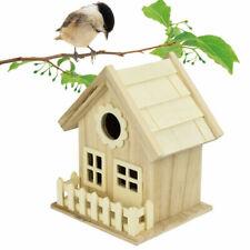 Outdoor Bird House Garden Birdhouse Wooden Nest Decor Box Breeding Feeder Decor