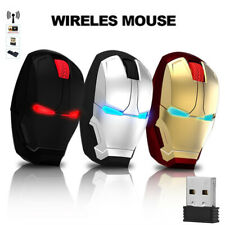 New Iron Man Avengers Wireless Gaming Mouse Computer Mic Silent Ergonomic for PC