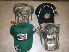 DALE EARNHARDT JR # 88 CAMOUFLAGE NATIONAL GUARD & AMP 2 MOUNTAIN DEW HAT 4 HATS