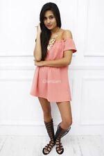 Vestiti da donna rosa corto, mini Taglia 40