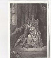 New! Gustave Dore In Its Leaves Vintage 80's Greeting Card Vision of Hell Gothic