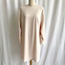 Club Monaco Light Powder Pink Ruched Long Sleeve Knee Length Shift Dress Size 10