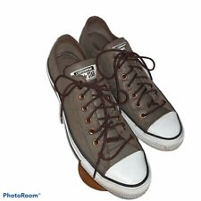 Converse All-Star Low Top Chuck OX Brown Suede Leather Shoes Sneakers Men's 11