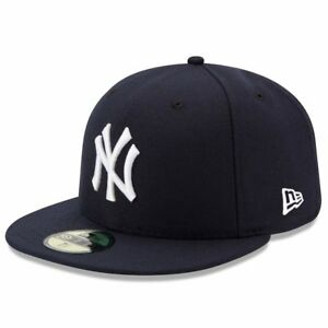 New Era 59Fifty New York Yankees FITTED HAT MLB Basic Cap Men Navy Blue On-field