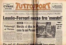 rivista TUTTOSPORT - 07/07/1975 N. 180 LAUDA-FERRARI