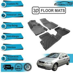 3D Molded Interior Car Floor Mat for Opel Astra G 1999-2004(Black)
