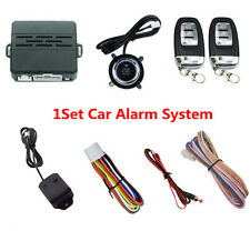 Car Alarm System One key Start Remote  Engine Start Remote lock Vibration Alarm