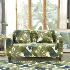 1/2/3/4-Seater Leaves Stretch Spandex Slipcovers Elastic Couch Sofa Cover Decor