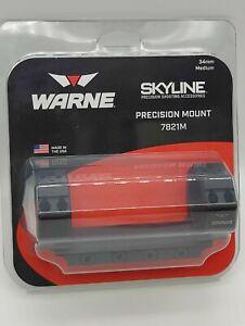 Warne7821M Skyline Precision Mount 34mm Medium Height, Black FULLY SEALED