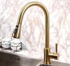 SUS Kitchen Sink Tap Mixer Faucet Pull Out Nozzle Head Single Handle Deck Mount