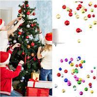 12Pcs Glitter Christmas Balls Baubles Xmas Tree DIY Hanging Santa Party Ornament