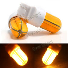 10Pcs 12V 24V Amber COB 48 SMD Silica LED 7443 992 Turn Signal Backup Light Bulb