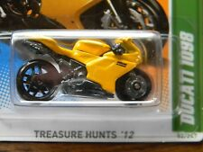 REG.-DUCATI 1098 MOTORCYCLE-hot wheels 2012-VHTF-treasure hunt rare collectible